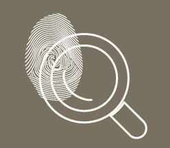 illustration : Loupe sur empreinte digitale