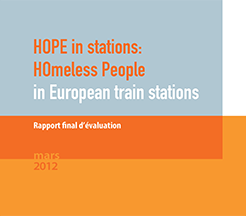 HOPE in stations: HOmeless Peope in European train stations