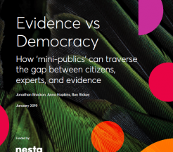 Couverture du Rapport Evidence vs Democracy